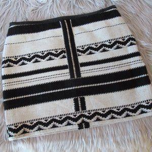 Madewell Black and White Gamine Geo Mini Skirt 10
